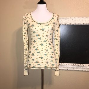 Free People Floral Thermal Size M